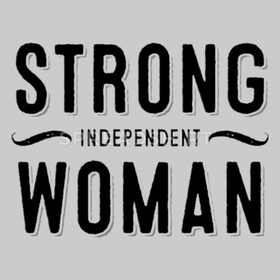 strong-independent-woman-womens-premium-t-shirt